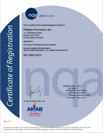 Phillips Precision - ISO Certificate
